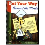 My review of the book Geography through art and also discussion of the book Eat your way around the world. Fun geography course for homeschoolers.