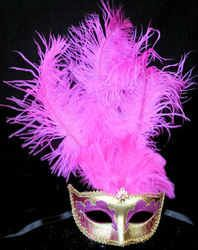 pink Rio carnival mask