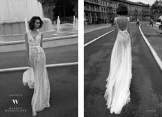 French – Israeli designer Liz Martinez continues to amaze us with her flawless designs. Her Fall/Winter 2015 bridal collection features sheath gowns made with soft delicate fabrics and exquisite tulle and lace detail. Classically sexy, yet whimsical this collection is breathtaking.