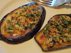 eggplant slices with a walnut and garlic spread…
