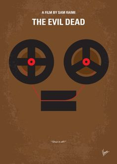 The Evil Dead (1981) ~ Minimal Movie Poster by Chungkong #amusementphile
