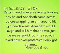 Percyjackson percabeth otp Percy annabeth head canon