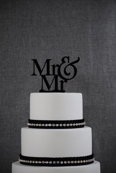 Mr and Mr Same Sex Wedding Cake Topper by Chicago Factory