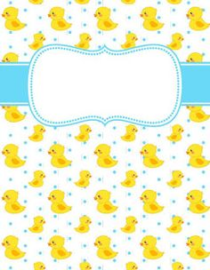 JPG and PDF versions available. Binder Cover Templates, Binder Inserts, Binder Covers, Goodnotes 4, Rubber Ducky Birthday, Notebook Cover Design, Girl 2nd Birthday, Baby Boy Scrapbook, Planning And Organizing
