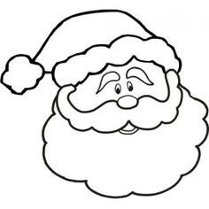 simple santa claus paper craft for toddlers santa face face