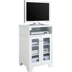 "White Tall TV Stand, for TVs up to 25""....wish it came in brown!!"