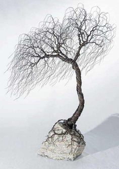 A Guide To Bonsai Trees For Beginners Wire Tree Sculpture, Sculpture Art, Wire Sculptures, Wire Crafts, Metal Crafts, Metal Tree Wall Art, Metal Art, Jewelry Tree, Wire Jewelry