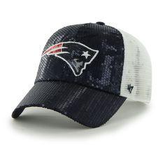 '47 New England Patriots Women's Navy Dazzle Mesh Clean Up Adjustable Hat