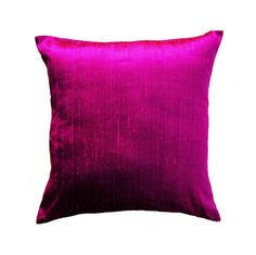Magenta Pillow Cover - Silk Magenta Purple Pink Cushion Cover with Zipper - choose your size