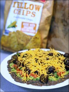 Healthier Seven Layer Dip - fANNEtastic food