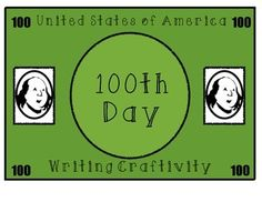 This FREEBIE is a fun way to celebrate the 100th Day of School :)  Enjoy writing about what YOU would DO to get your face on a 100 dollar bill :)  Complete with a blank, one hundred dollar template for students to add their face to the bill and attach to their write-about :)  Happy Teaching :)
