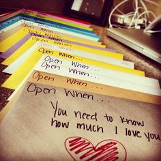 Reminds me of the book Letterbox, creating letters for your child...a cherished gift for when your child is grown-up.