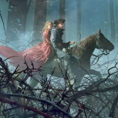 Belle and her Father, concept art by François Baranger.