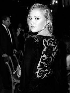 Maika Monroe at New York Fashion Week.