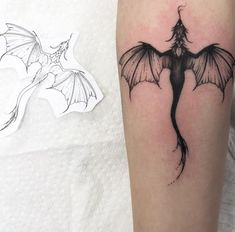 - List of the most beautiful tattoo models Small Dragon Tattoos, Dragon Tattoo For Women, Dragon Tattoo Designs, Small Tattoos, Tattoos For Women, Viking Dragon Tattoo, Cute Dragon Tattoo, Mini Tattoos, Little Tattoos