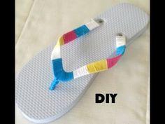 ▶ DIY: Colorful Thread Wrap Flip Flops - YouTube