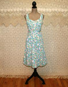 Sleeveless Floral Dress Womens Sundress Cotton by MagpieandOtis