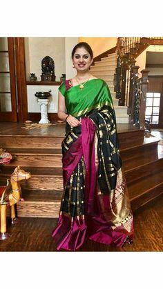 blackberry Indian Bridal Sarees, Indian Bridal Wear, Tussar Silk Saree, Pure Silk Sarees, Blouse Patterns, Saree Blouse Designs, Indian Fashion Trends, Stylish Sarees, Elegant Saree