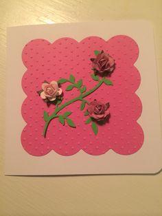 Enkelt kort med roser
