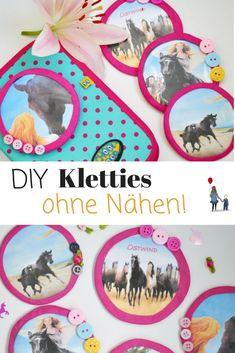 DIY: Kletties für den Schulranzen selber machen - ganz ohne Nähen! Süße Geschenkidee oder zum Basteln mit Kindern.