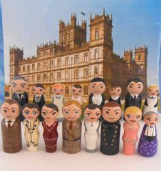 Downton Abbey Peg People via Etsy