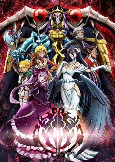 Anime Overlord | Ainz Ooal Gown and Floor Guardian: Albedo, Cocytus, Aura Bella Fiora, Mare Bello Fiore, Shalltear Bloodfallen, Demiurge, Sebastian.