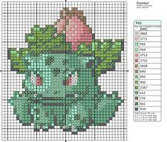 Ivysaur Pokemon free cross stitch pattern