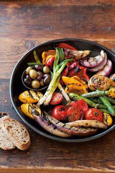 fresh grilled veggies