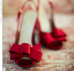 Red shoes with bows