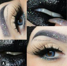 Galaxy glitter makeup