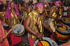 Members of the bloco afro Olodum. Carnaval time is coming once again!