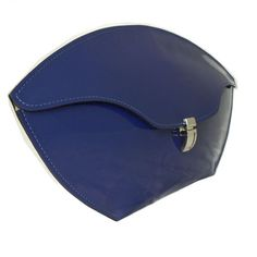 British Blue Lily clutch bag