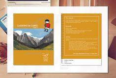 Diseño de portada para cuaderno didáctico de los Picos de Europa