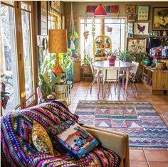Ideas For Boho Style Interior Decor Design Boho Living Room, Living Room Decor, Living Spaces, Bedroom Decor, Bohemian House, Bohemian Decor, Boho Style Decor, Bohemian Interior Design, Boho Chic