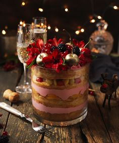 The kellys christmas ice cream trifle christmas pinterest we love making trifles at christmas time and today i have this delicious lily vanillis festive ccuart Choice Image