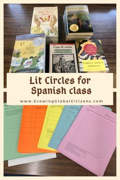 Literature circles are a great way for students to read books of their choice at their level. See how I used them in my high school Spanish immersion class. Spanish Heritage, Ap Spanish, Learn Spanish, Learn French, Spanish Alphabet, Spanish Phrases, Spanish Teaching Resources, Spanish Activities, Vocabulary Activities
