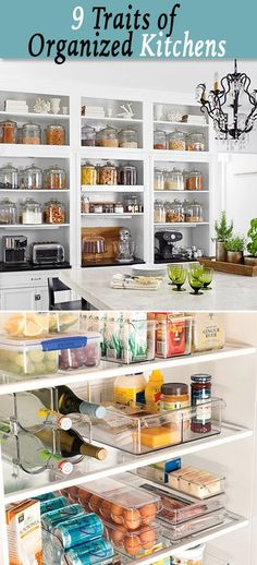 Luxury Home Interior Check Out The 9 Traits of an Organized Kitchen - Lots of tips and ideas for organizing your kitchen! Home Interior Check Out The 9 Traits of an Organized Kitchen - Lots of tips and ideas for organizing your kitchen! Organized Kitchen, Kitchen Organization, Organization Hacks, Kitchen Storage, Organizing Ideas, Organising, Refrigerator Organization, Food Storage, Kitchen Hacks