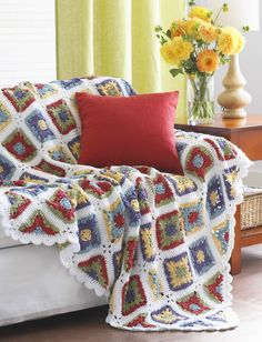 Yarnspirations.com - Lily Country Granny Blanket - Patterns  | Yarnspirations