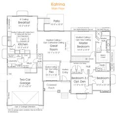 Rambler House Plans simple rambler house plans with three bedrooms house main floor plan Katrina Rambler House Plan Eric Likes This One A Lotbut