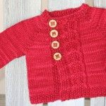 Olive You Baby - Free Baby Cardigan Knitting Pattern
