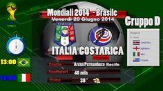 Italia Costa Rica Formazioni Gruppo D Mondiali 2014 - Video