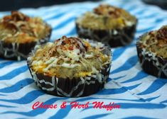 Cheese & Herb Muffin- A flavorful savory muffin Good morning! Hot muffins straight from the oven......#breakfast #cheese #pizzao #cheesecornmuffin #socheesy #lovingit Recipe at: www.annapurnaz.in