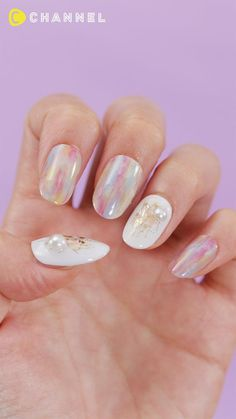 Nail Art Designs Videos, Nail Art Videos, Gel Nail Designs, Nail Art Hacks, Gel Nail Art, Cute Nail Art, Cute Nails, Asian Nails, Korean Nails