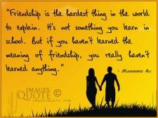 Friendship is the hardest thing to explain - Friendship Quote