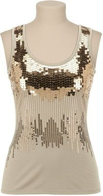 3344652c Gold Ombre Sequin Tank Sequin Tank Tops, Sequin Top, Gold Sequins, Dressy  Outfits