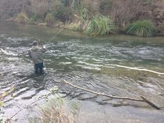 Nick showing us how it's done on the Hinemaiaia, Taupo, New Zealand