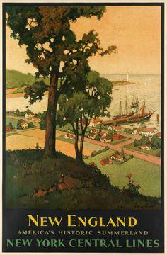 Vintage Travel Poster, Anthony Hansen, c 1930's