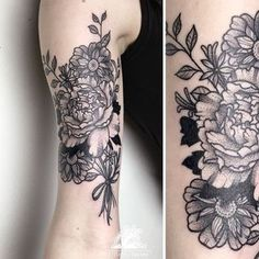 traditional tattoo flowers black - Buscar con Google