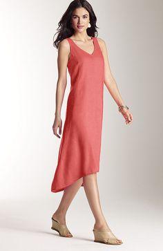 Linen elliptical dress | www.jjill.com