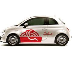Italio brand identity covering voiture marquage publicitaire